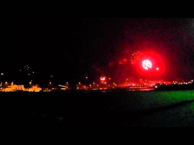 Silvester 2012 Neujahr 2013 Feuerwerk in Bensersiel (Nordsee) - New Year's day firework at North Sea