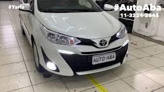Toyota Yaris 2019 2020 Lâmpadas Super Leds Drl com Setas Frisos Laterais e Soleiras - AutoABA
