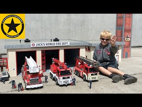 BRUDER TOY TRUCKS new FIRE DEPARTMENT in Jack's BWORLD