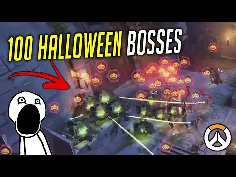 100 HALLOWEEN BOSSES VS HIGHNOON!?! OVERWATCH ► FUNNIES, FAILS & CRAZY MOMENTS #78