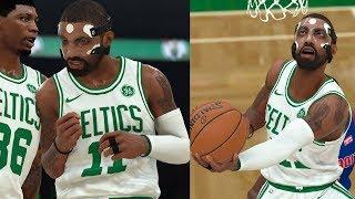 NBA 2K18 Masked Kyrie Irving SICK! Highlights vs Pistons!!! 2017.11.27