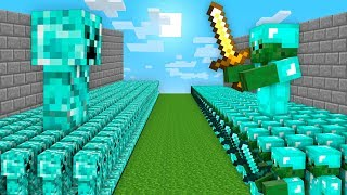 DIAMOND ZOMBIE VS DIAMOND CREEPER BATTLE! Minecraft Noob vs Pro Animation