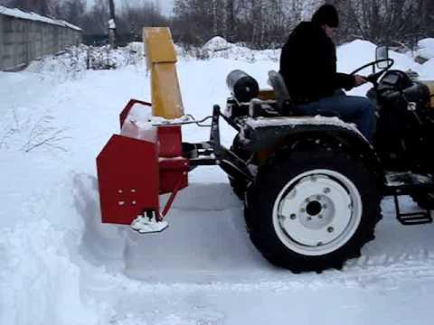 Снегоротор для минитрактора своими руками