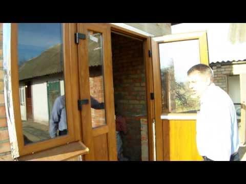 Окна и двери с ламинацией под дерево, цвет золотой дуб