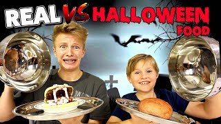 Real Food vs. Halloween Food 🎃 CHALLENGE 👻 😁 TipTapTube Family 👨‍👩‍👦‍👦
