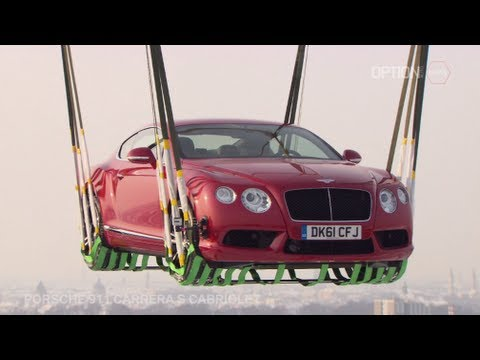2013 Continental GT transported by helicopter [HD] (Option Auto News)