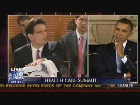 Republican Whip Eric Cantor Speaks With President Barack Obama At White House Health Care Summit