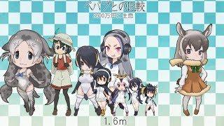 Kemono Friends - Friends Size Comparison