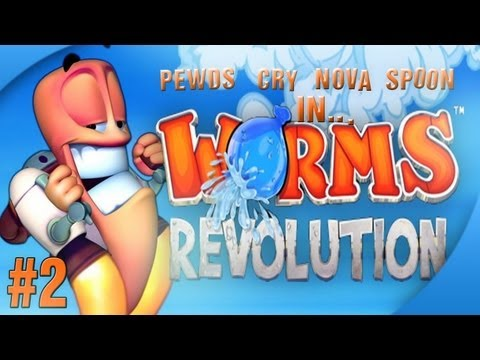 Nova / Sp00n / Cry / Pewds - Worms Revolution Part (2) Match (1)