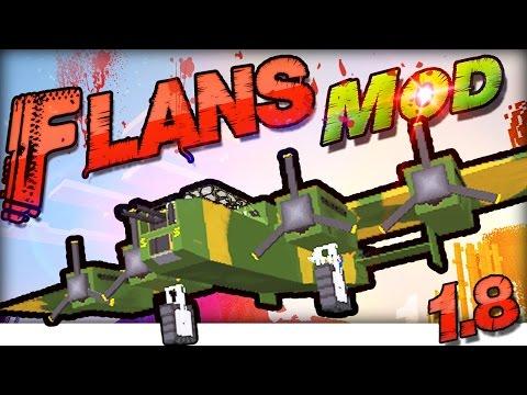 MINECRAFT MODS 1.7.10 : Flans FLUGZEUG Mod In-Game Review / Tutorial | German Deutsch |WW2 & MW Pack