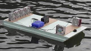 RC Raft from Insulation Board and Server Fans  - TRAILER  -