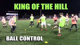 SoccerCoachTV - King of the Hill - Fun Ball Control Game.