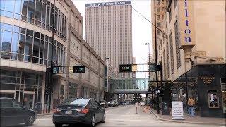 Driving Downtown - Cincinnati Ohio USA