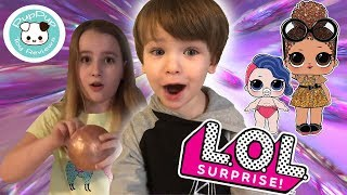 Opening LOL Boss Queen and Lil Cheeky Babe! LOL Suprise Confetti Pop Gold Ball hack  LOL Lil Sisters