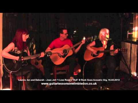 GregX TV- Lauren,Ian Deborah playing 'I love Rock n Roll' at Rock Goes Acoustic