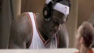 Lebron James NBA commercial sporting Beats by Dr. Dre Headphones Where Amazing Happens