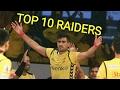 Top 10 KABADDI Players/Raiders in Pro KABADDI (PKL)ALL SEASONS