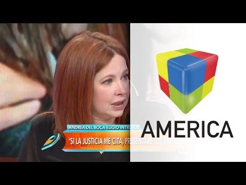 Andrea del Boca: Me han insultado públicamente sin tener pruebas