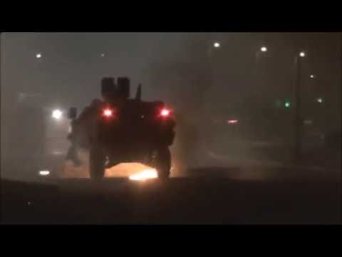 Bahrain : Youths Clash With Riot Police APC