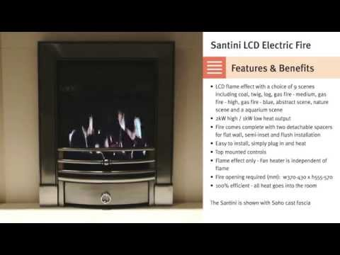 Superior Fires - Santini LCD Electric Fire