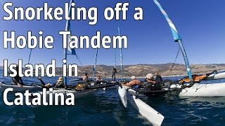 Snorkeling at Two Harbors Catalina While Being Towed by  a Hobie Mirage Tandem Island Kayak