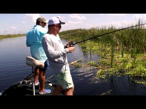 Florida Loxahatchee Preserve Bass Fishing. Flipping with Ricky & Capt  Shane