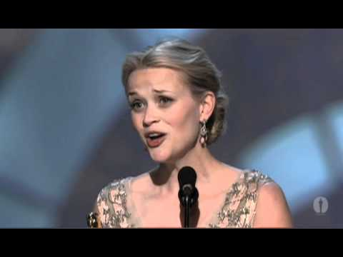 Reese Witherspoon winning Best Actress