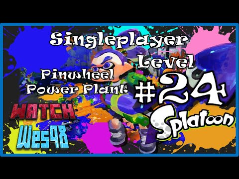 Splatoon - Singleplayer Level 24 - Pinwheel Power Plant - Wii U