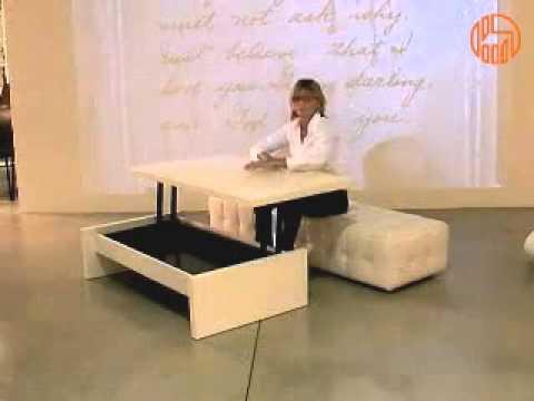 tavolino salotto : Tritone - Tavolino da salotto trasformabile in scrivania - YouTube