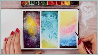 Using Salt | Watercolor Painting Ideas & Techniques for Beginners  Art Journal Thursday Ep. 44