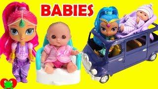 Shimmer and Shine Babysit Baby Dolls