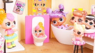 LOL Surprise Dolls Baby Princess Bathroom + Custom Bedroom | Toy Egg Videos