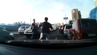 roadrage bully hides behind mom from street justice   YouTube