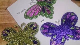 Art Extravagance glitter project