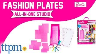 Barbie Fashion Plates All-In-One Studio Activity Kit [REVIEW] | Horizon Group USA Toys