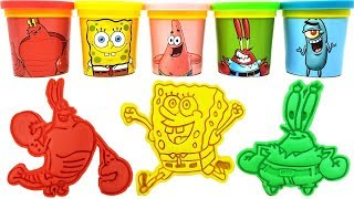 Play-Doh Toys SpongeBob SquarePants Patrick Plankton Mr. Krabs  Larry the Lobster