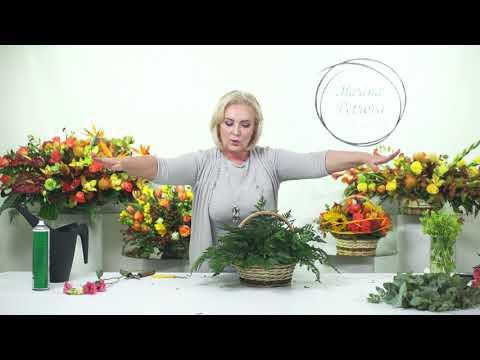 Мастер-класс Марины Петровой: композиции в корзинах