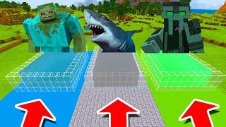 Minecraft PE : DO NOT CHOOSE THE WRONG POOL! (Mutant Zombie, Megalodon & The Admin Boss)
