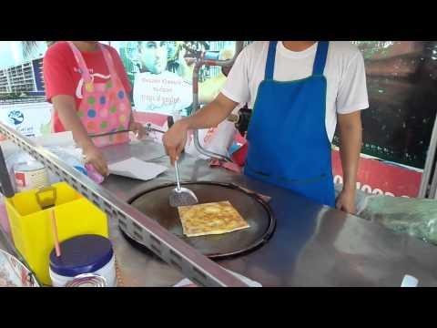 Блинчики с бананами по Тайски / How make pancakes