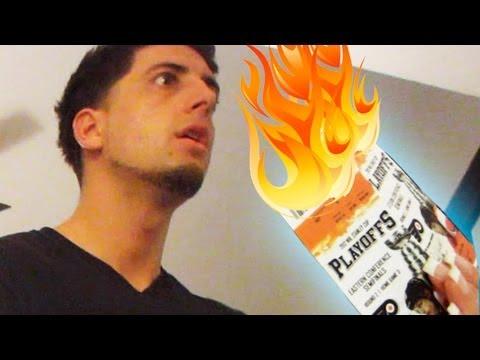 Burning Playoff Tickets Prank  Prankvsprank video