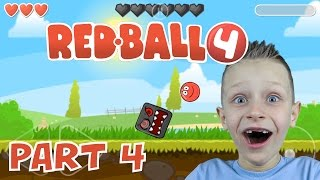 RED BALL 4, levels 11-15 and BOSS epic battle | KID GAMING
