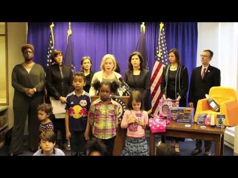 Senator Gillibrand: Too Many Toxic Toys