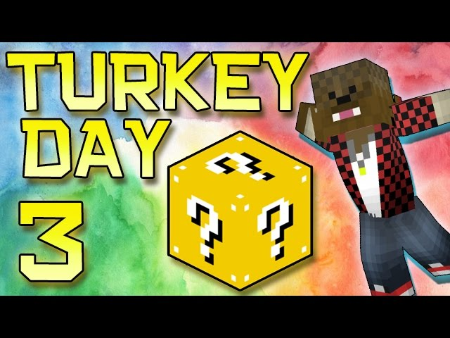 Minecraft: Modded Turkey Day Thanksgiving Survival Let's Play w/Merome 3 - Lucky Blocks Mod!
