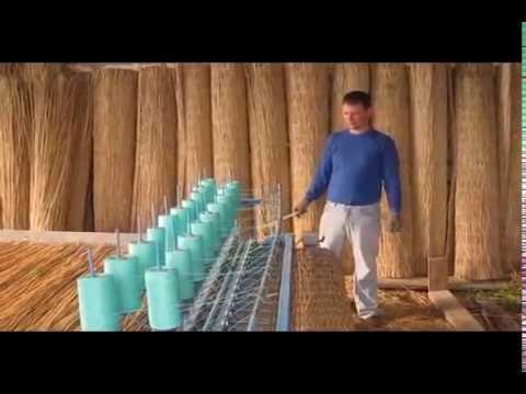 Камышовые маты. Станок по производству матов из тростника.