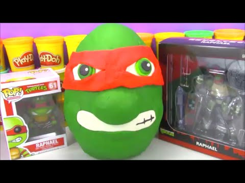 Giant Tmnt Play Doh Surprise Egg Teenage Mutant Ninja Turtle With Toys From Minecraft And More! video
