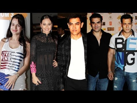 Dabangg 2 Premiere | Salman Khan, Sonakshi, Aamir with Arbaz - Uncut Video
