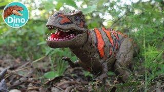 T-Rex VS Triceratops Dinosaur toy   Dino Toy Ep.7