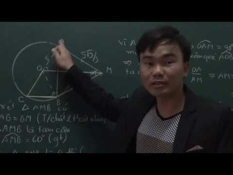 Tiếp Tuyến Của đường Tròn- Tính Chất Hai Tiếp Tuyến Cắt Nhau - Http:  zuni.vn  video