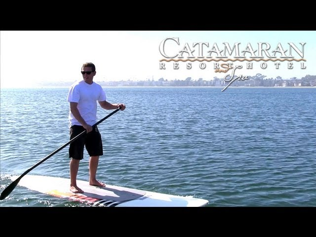 San Diego Activities - Paddleboarding at Catamaran Resort