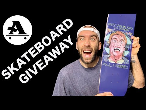 SKATEBOARD GIVEAWAY 2019 & A EPIC SESSION AT SKATERS EDGE